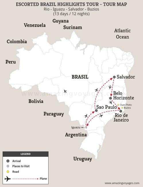 Escorted Brazil Highlights Tour